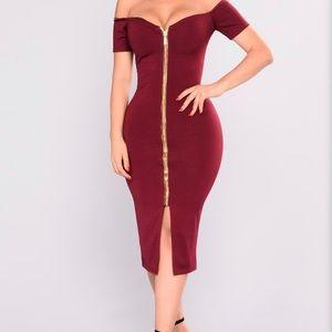 Fashion Nova Robyn Zipper Dress